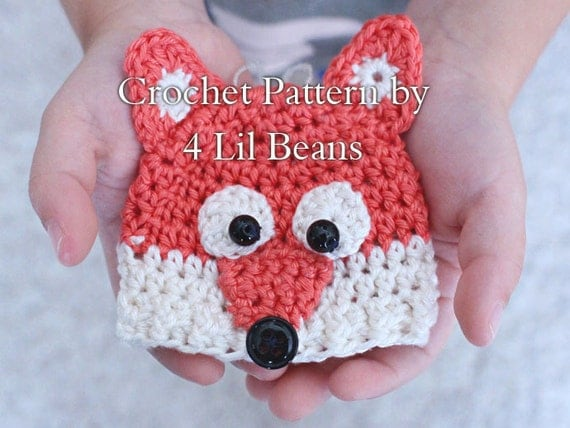 Crochet fox ornament pattern