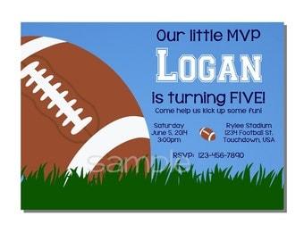 Football Invitation All Star MVP Birthday Party - DIGITAL or PRINTED