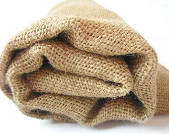 Burlap by the yard, one yard 46 inch wide natural jute fabric, heavy weight craft supply