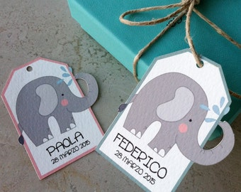 "Tags Favor Baptism ""Elephant That SPRAYS"""