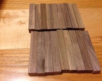 18 walnut pen blanks wooden, wood