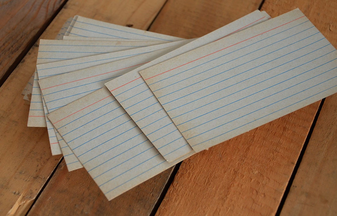 old school lined paper ruled stock card 25cottonsnowflower