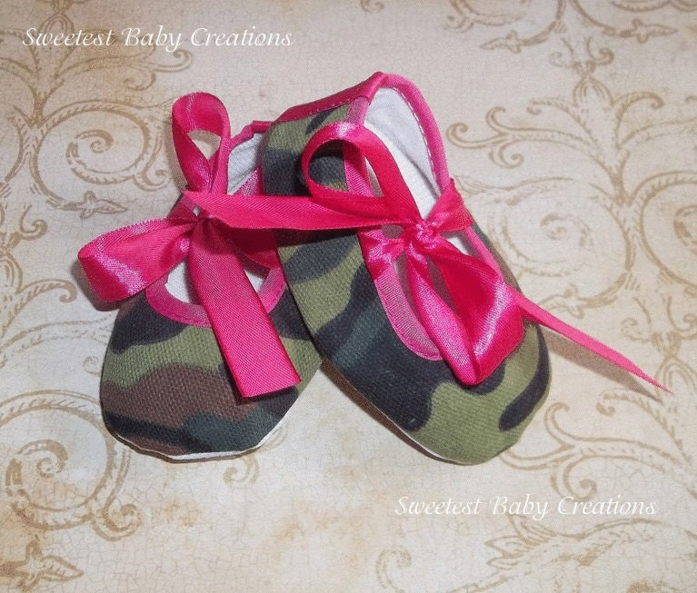 camo pink baby shoes camo baby