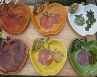 Vintage Apple Plates 1964 California Potteries