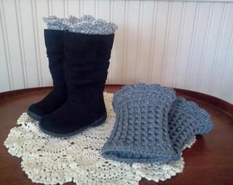 Peek-A-Boo Boot Cuffs (for adults & children) Crochet Pattern
