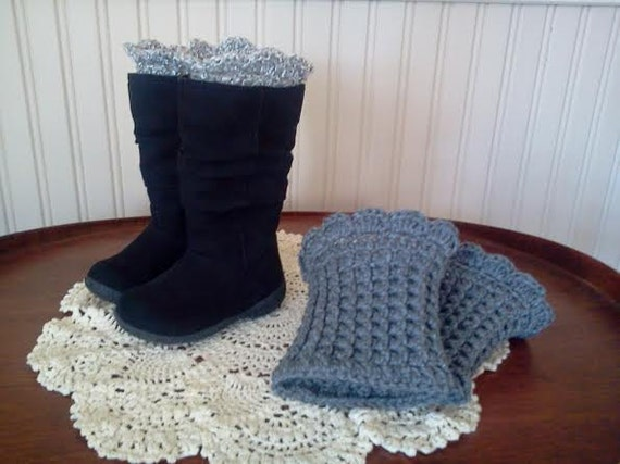 Peek-A-Boo Boot Cuffs for adults & children Crochet Pattern