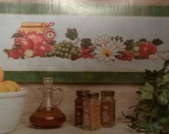 Seasonal Fruits: Apples Cross Stitch Pattern