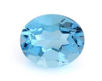 Blue Topaz Oval Cut Loose Gemstone 1A Quality 11x9mm TGW 4.00 cts.