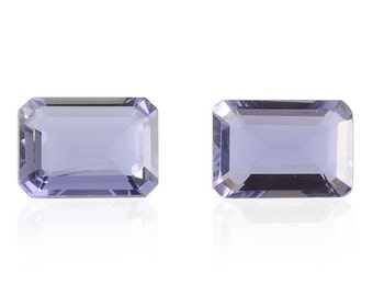 Catalina Iolite Loose Gemstones Set of 2 Octagon Cut 1A Quality 7x5mm TGW 1.20 cts.