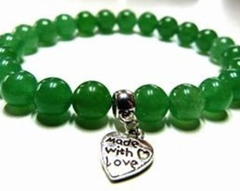 Crystal Healing Gemstone Bracelet Green Aventurine Aries Prosperity