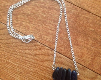 Dark purple adventurine necklace