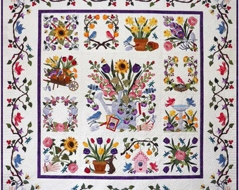 Baltimore Spring Quilt Pattern Set By Pearl Pereira