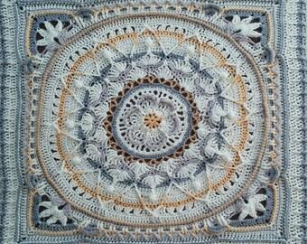 Textured medallion afghan (Sophie's garden expanded)