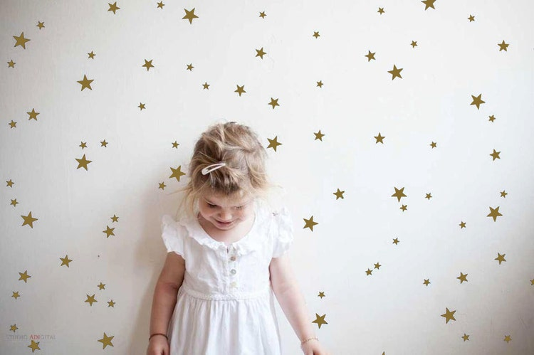 Gold Star Wall Decor: Gold Star Wall Decals Star Wall Stickers Nursery By Tayostudio