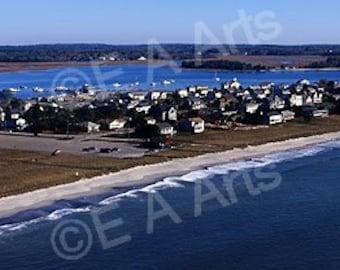Grand Beach Pine Point Scarborough Maine Panoramic Photography Maine Art Print