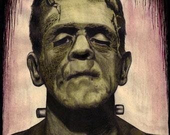 Frankenstein's Monster Original Art Print