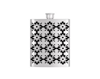 Mosaic Moraccan Bridal Party Bridesmaid Flask Pack with Funnel Stainless Steel 8 oz Liquor Hip Flasks - Flask #145