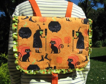 Cute Be-Witching Halloween Backpack