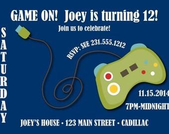Gaming Birthday Invitation • Tween Boys Birthday Invitation • Boys Birthday Party Invitation for Any Age