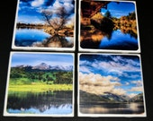 On Sale Now...Hand Made Photo Coasters - Set of 4 - One of a Kind - Beautiful Landscape Scenary - HDR Colorado Photography
