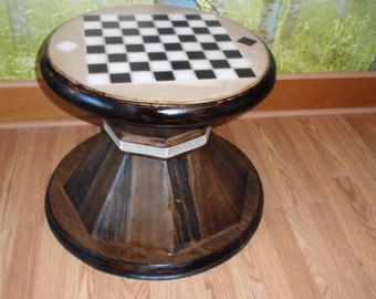 "The ""Sacrificial Pawn"" chess piece themed chess table"