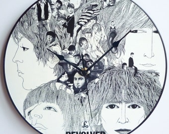 Revolver - The Beatles -  12″ LP Vinyl Record Wall Clock