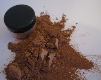 Organic Mineral  Makeup  Shimmer Copper Eyeshadow last all day silky smooth 12 shades 5gram jar