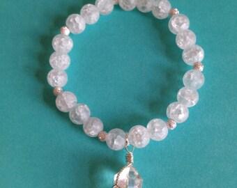 Woman's winter ice crystal bracelet