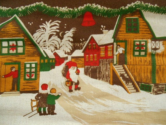 Vintage Christmas Wall Decor : Vintage swedish christmas wall hanging printed by