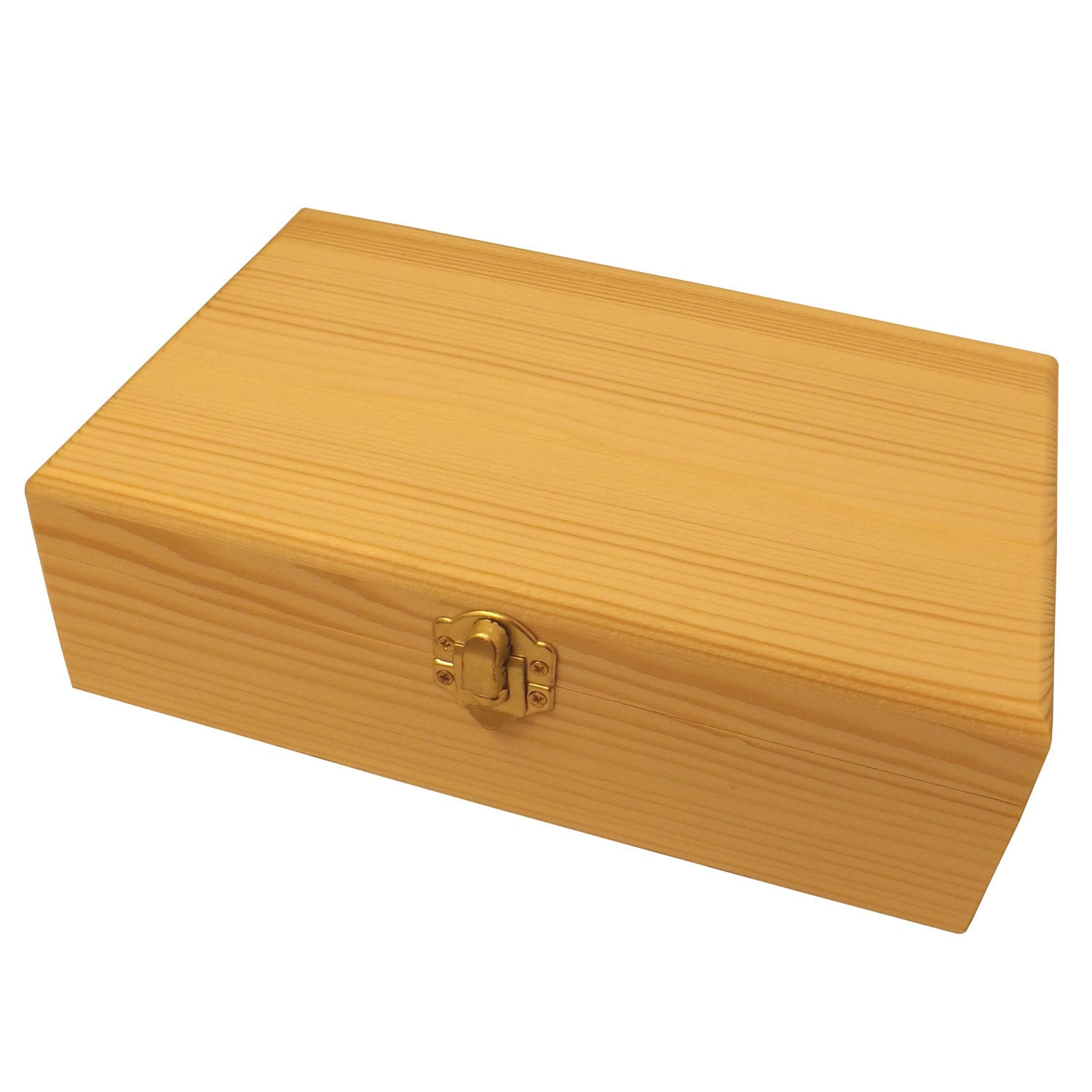 Large Unfinished Wood Box with Hinged Lid Crafts Wooden ...  |Large Unfinished Wooden Boxes