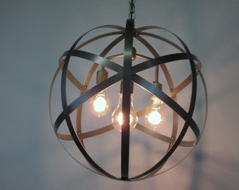 Orb Chandelier Etsy