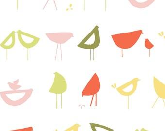 Little Birds Red, Havanna Collection by Monaluna Organic Fabrics 3026