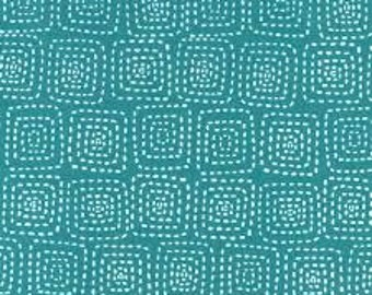 Stitch Square in Teal by Michael Miller Fabrics 2071