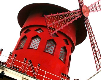 Moulin Rouge Iconic Windmill Fine Art Photograph (Paris, France) 5x5