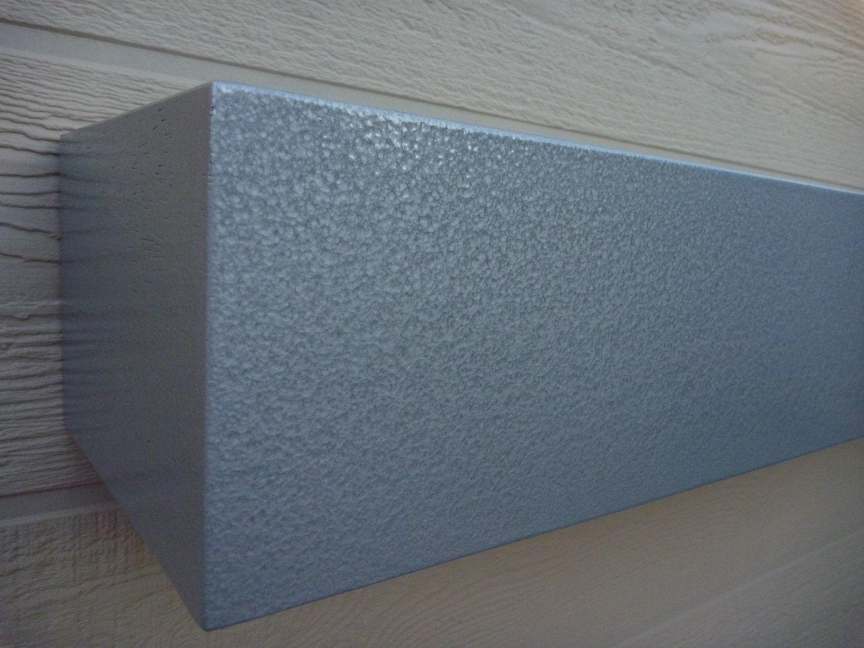 stainless steel look shelves floating shelves mantle floating. Black Bedroom Furniture Sets. Home Design Ideas