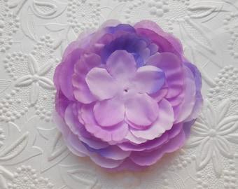 "Lavender 3"" Flat Back Silk Peony Flower Head, DIY craft, Hairbow Supply, Children Accessories, Wholesale"