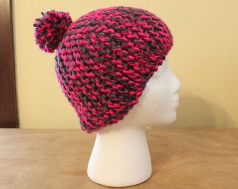 Key west pink knitted cloche hat