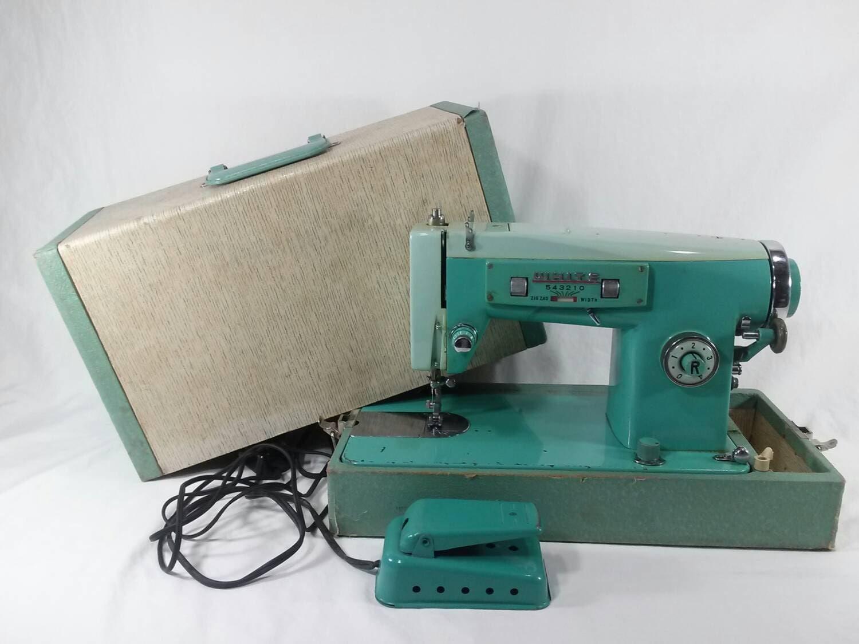 white zig zag sewing machine