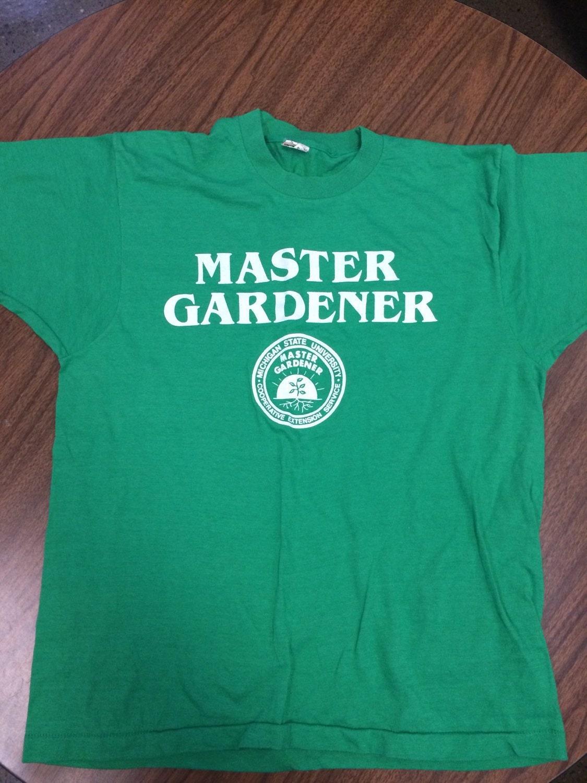 Vintage 80s Michigan State University Master Gardener T Shirt