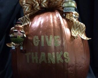 Thanksgiving fall craft pumpkin