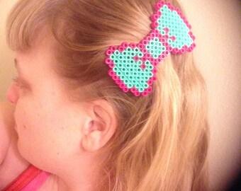 Pixelated 8-bit Hair Bow - Barrette