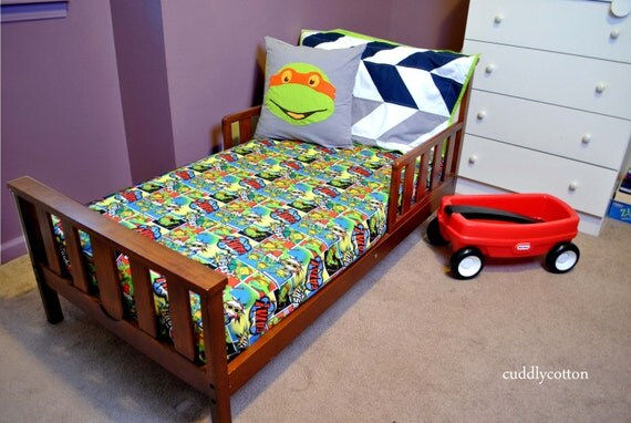 Turtle Toddler Bed Super Hero Ninja Turtle Toddler Bedding