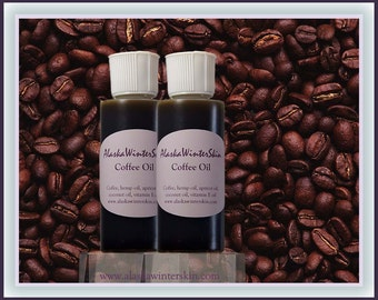 Coffee Oil, Coffee extracted into Hemp and Apricot Oil