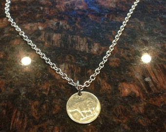 India 25 paise coin necklace