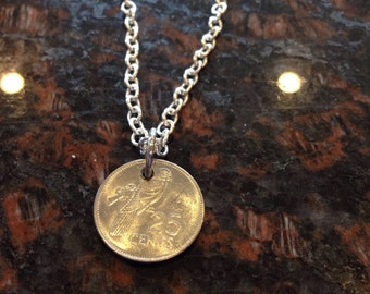 Seychelles 25 cents coin necklace