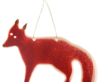 Fox Hanging Decoration in Porcelain