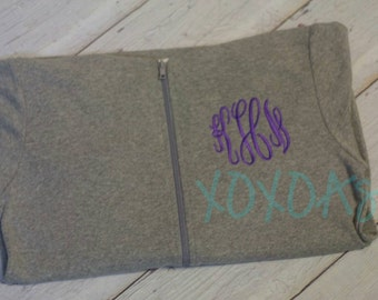 Monogrammed Womens Light Weight Zip Jacket-Bridesmaid or Sorority Gift--Customized with several color options