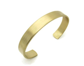 Brass Engravable Stampable Adjustable Cuff Bracelet, 1pc