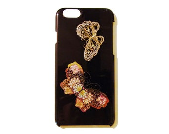 Japanese traditional lacquer designs iPhone case.  <iPhone6> butterfly