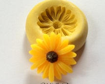Large  25 MM Daisy Cabachon Silicone Mold Mould Resin Molds Polymer Clay Mold Wax Mold Food safe Mold Flexible Mold Fondant Mold Push Mold